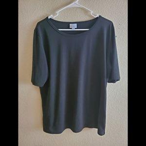 LuLaRoe 3XL Solid Black Perfect Tee Shirt Top